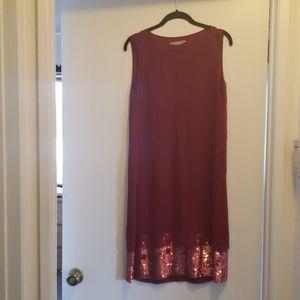 Ports 1961 red silk shift dress